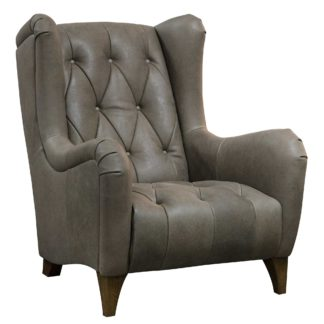 An Image of Elena Leather Accent Chair