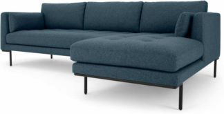 An Image of Harlow Right Hand Facing Chaise End Corner Sofa, Orleans Blue