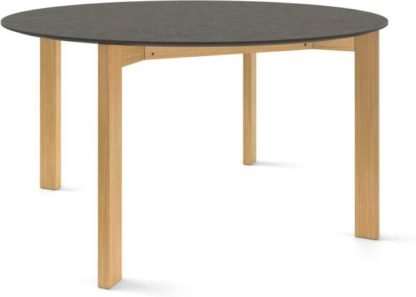 An Image of Custom MADE Niven 6 Seat Round Dining Table, Concrete and Oak