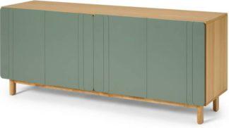 An Image of Asuna Wide Sideboard, Oak & Fern Green