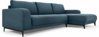 An Image of Luciano Right Hand Facing Chaise End Corner Sofa, Orleans Blue