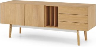 An Image of Mellor Sideboard, Oak & Textured White