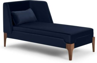 An Image of Roscoe Right Hand Facing Chaise Longue, Royal Blue Velvet