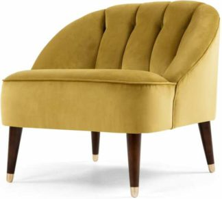 An Image of Margot Accent Armchair, Antique Gold Velvet