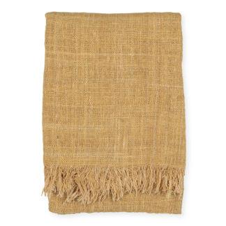 An Image of Original Home Handwoven Cotton Throw Curry 135 x 200cm