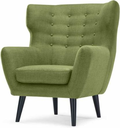 An Image of Kubrick Wing Back Chair, Lime Green