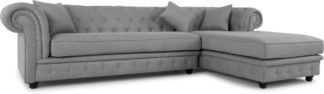 An Image of Branagh Right Hand Facing Chaise End Corner Sofa, Pearl Grey