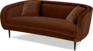 An Image of Caswell 3 Seater Sofa, Warm Caramel Velvet