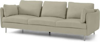 An Image of Vento 3 Seater Sofa, Pale Putty Leather