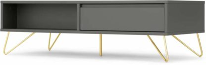 An Image of Elona Coffee Table, Charcoal and Brass