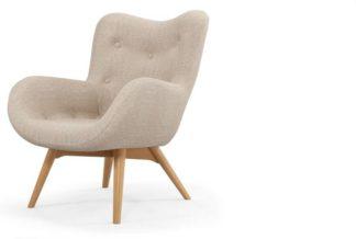 An Image of Doris Accent Armchair, Shetland Pink