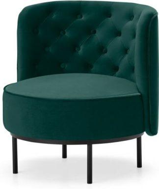 An Image of Ethel Cocktail Accent Chair, Seafoam Blue Velvet