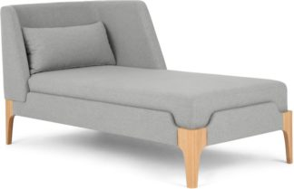 An Image of Roscoe Right Hand Facing Chaise Longue, Cool Grey with Light Leg