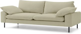 An Image of Fallyn 3 Seater Sofa, Stoned Sand Fabric