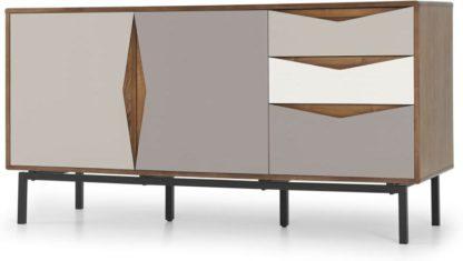 An Image of Louis Sideboard, Walnut & Warm Neutrals