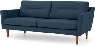 An Image of Walker 3 Seater Sofa, Orleans Blue