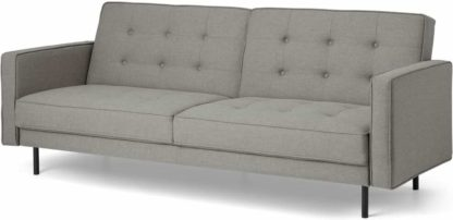 An Image of Rosslyn Click Clack Sofa Bed, Cinder Grey