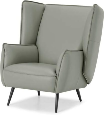 An Image of Linden Accent Armchair, Concrete Leather