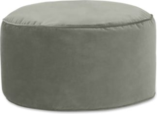 An Image of Lux Velvet Floor Cushion, Sage Green Velvet