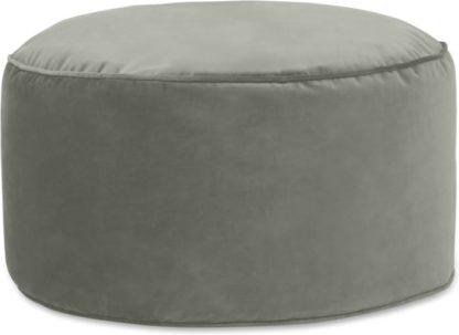 An Image of Lux Velvet Floor Cushion, Sage Green Velvet
