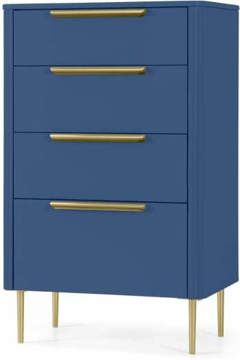 An Image of Ebro Tall Chest of Drawers, Blue