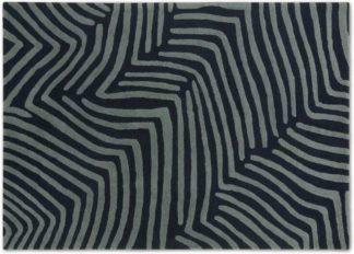 An Image of Larkin Handtufted Wool Rug, Large 160 x 230cm, Midnight & Slate Blue
