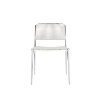 An Image of Kartell Audrey Side Chair Lacquered Alu Frame White