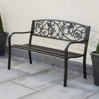 An Image of Hummingbird 2 Seater Bench Bronze