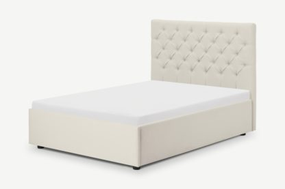 An Image of Skye Super King Size Bed with Ottoman Storage, Oatmeal Weave