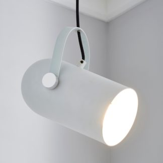 An Image of Cameron Camera Head Pendant Ceiling Fitting White