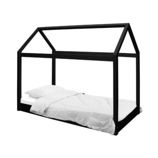 An Image of Hickory Black Bed Frame Black