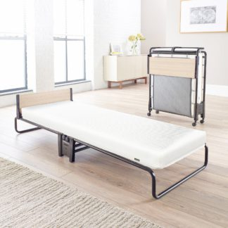 An Image of Revolution Folding Bed Frame with Mattress Black