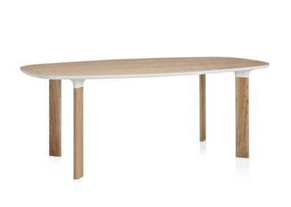 An Image of Fritz Hansen Analog 185CM Dining Table 4 6 Seater Jh63 Walnut