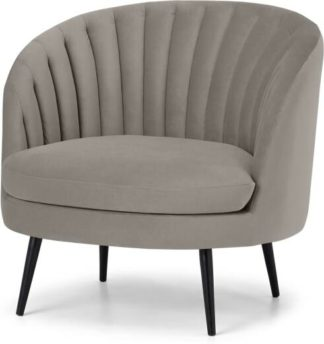 An Image of Sylvie Accent Armchair, Alaska Grey Velvet