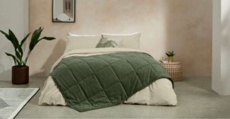 An Image of Selky Bedspread, 125 x 225cm, Sage Green
