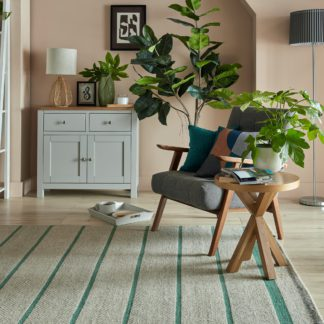 An Image of Terra Stripe Flatweave Rug Green