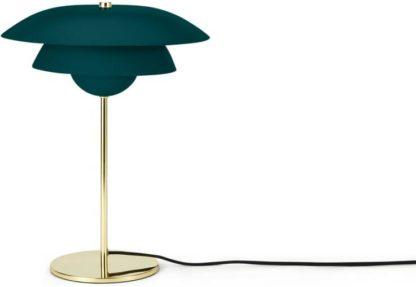 An Image of Brunswick Layered Table Lamp, Green & Brass