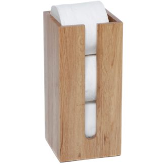 An Image of Wireworks Natural Oak Mezza Roll Holder Box