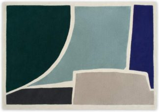 An Image of Juula Large Hand Tufted Wool Rug, 160 x 230cm, Blue