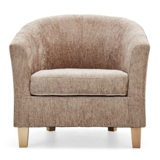 An Image of Maxwell Tub Chair - Mink Mink Beige
