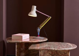 An Image of Anglepoise Type 75 Mini Desk Lamp Paul Smith Edition One