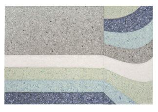 An Image of Gandia Blasco Nuances Rug Curve Nalad Blue 200 x 300cm