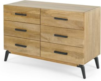An Image of Lucien Wide Chest of Drawers, Light Mango Wood