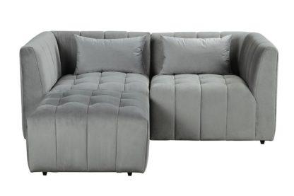 An Image of Essen Two Seat Corner Sofa – Dove Grey