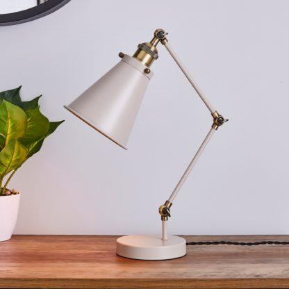 An Image of Logan Task Table Lamp Grey