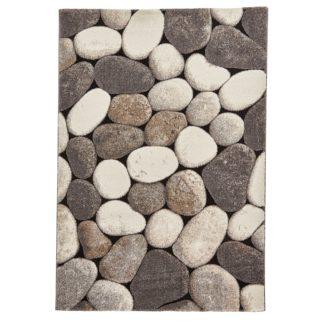An Image of Cream and Grey Woodland 2099 Rug Grey