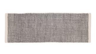 An Image of Linie Design Asko Runner Rug Light Grey & Natural