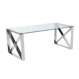An Image of 5A Fifth Avenue Madison Coffee Table Chrome