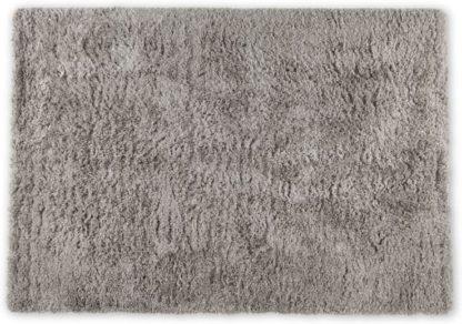 An Image of Erin Deep Pile Rug, Large 160 x 230cm, Warm Grey