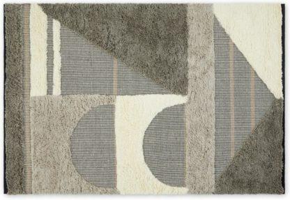 An Image of Lawton Wool Blend Rug, Large 160 x 230cm, Blue Grey